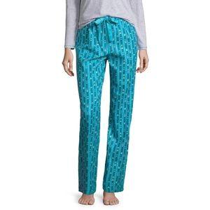 NWT Sleep Chic Flannel Tie Waist Pajama Pants
